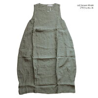 nousrendentheureux818174ヌーランドオローフレンチリネンノースリーブ裾ビッグタックバルーンワンピース