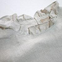 nousrendentheureux819094ヌーランドオローリネン切替衿フリルブラウス