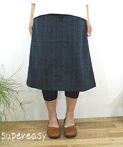 PRIT pret cotton hemp Black Watch skirt-71329 ladies