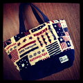 【モコモコトートバッグ】人気の国旗柄♪アメリカユニオンジャック星vintage