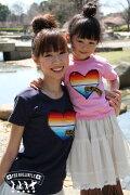 【親子ペアTシャツ】サラペのハートデザインおそろいでご購入で\1,000引き!ママと子供のお揃いファッション♪♪