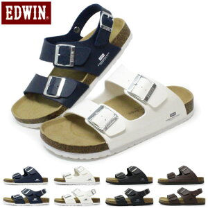 EDWIN サンダル メンズ ビルケン風 フットベットサンダル フラットサンダル オフィス EB1001 EB1002 コンフォートサンダル