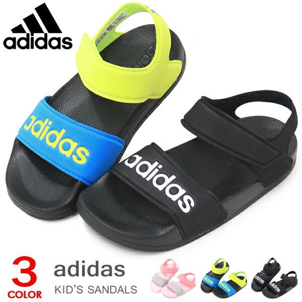 77a71d6fd35ac アディダス adidas キッズ サンダル ジュニア スポーツサンダル ウォーターシューズ アクアシューズ 男の子 女の子 ADILETTE  SANDAL K