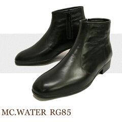 メンズの通勤レインブーツ 紳士靴 レインシューズ マックウォーター 完全防水革靴 RG-85