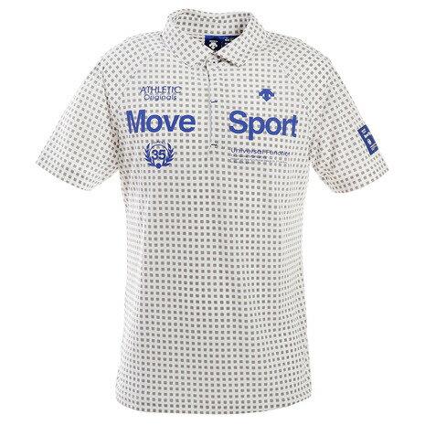 デサントゴルフ(DESCENTEGOLF) ゴルフ ポロシャツ メンズ 市松柄プリント鹿の子シャツ DGMPJA31-WH00 (メンズ)