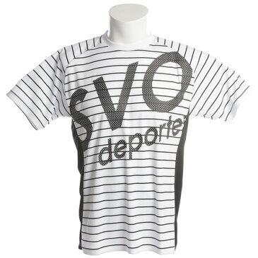 【6/5 24h限定 エントリーでP10倍〜】スボルメ(SVOLME) Tシャツ メンズ ボーダーDRYトップ半袖Tシャツ 181-62900WHBK (Men's)