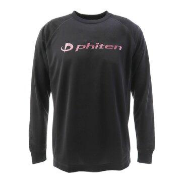 ファイテン(PHITEN) 【ファイテン限定】 Tシャツ 長袖 RAKUシャツ SPORTS 吸汗速乾 ロゴ 3117JG27400 (Men's)