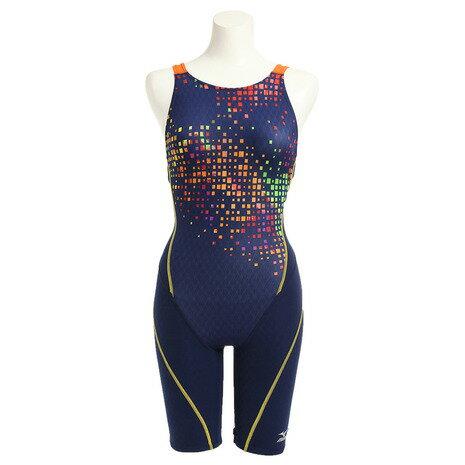 7b3b51fce1a ミズノ(MIZUNO) ハーフスーツ オープン 競泳水着 N2MG674185 - 水着 ...
