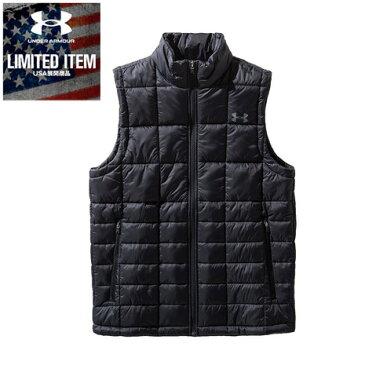アンダーアーマー(UNDER ARMOUR) Armour Insulated Vest 1360551 BLK/BLK/PCG AT スポーツウェア 中綿ベスト オンライン価格 (メンズ)