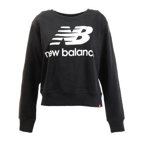 ニューバランス(newbalance)エッセンシャルクルーネックスウェットAWT91585BKオンライン価格(レディース)