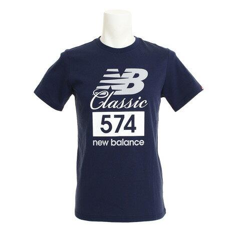 ニューバランス(newbalance) 多少の傷汚れありの為大奉仕 クラシック574TシャツAMT81543PGMオンライン価格