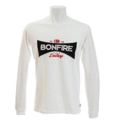 トップス, Tシャツ・カットソー 710 P10Bonfire T EMBLEM 10BNF8CD2020 WHT Mens