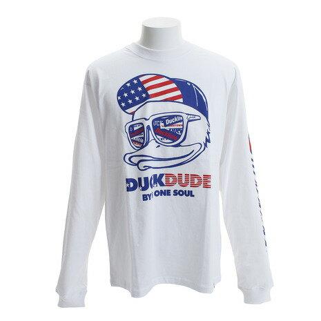 トップス, Tシャツ・カットソー B ONE SOUL DUCK DUDE USA T 8770076-WHT Mens