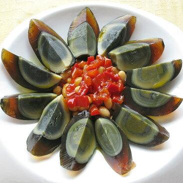 青島皮蛋(緑) ばら売り チンタオピータン アヒルの卵 硬芯タイプ 1個 冷凍商品と同梱不可 100g