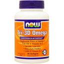 トリ3Dオメガ(フィッシュオイル+ビタミンD) 90粒[サプリメント/健康サプリ/サプリ/DHA/EPA/now/ナウ/栄養補助/栄養補助食品/アメリカ/ソフトジェル]