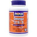 植物性オメガ3・6・9脂肪酸 1000mg(必須脂肪酸ミックス)[サプリメント/健康サプリ/サプリ/DHA/EPA/now/ナウ/栄養補助/栄養補助食品/アメリカ/国外/ソフトジェル/サプリンクス/通販/楽天]