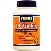 Lシトルリン 750mg (品質と1粒あたりの含有量で選ばれる人気アミノ酸!)[サプリメント/健康サプリ/サプリ/アミノ酸/シトルリン/now/ナウ/栄養補助/栄養補助食品/アメリカ/カプセル/サプリンクス] ¬
