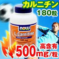 1粒に500mgのLカルニチンが180粒★このお手ごろ価格でダイエットを応援するサプリメントです♪...