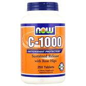 [ お得サイズ ] ビタミンC 1000mg + ローズヒップ(タイムリリース型) 250粒[サプリメント/健康サプリ/サプリ/ビタミン/ビタミンC/ローズヒップ/ローズ/お徳用/now/ナウ/栄養補助/栄養補助食品/タブレット/通販/楽天]