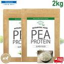 ピープロテイン ボタニカル 2kg(1kg×2袋) 純度100% ビーガン仕様に 無添加 えんどう豆プロテイン ノンフレーバー ビーガン アミノ酸スコア100 送料無料 ダイエット 美容 健康 たんぱく質 タンパク質 女性