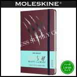 MOLESKINE(モレスキン)限定版美女と野獣ノートブックハードカバールールド(横罫)LargeスクラッチLEBB01QP060BS(855518)