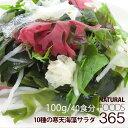 送料無料 寒天海藻サラダ 100g(40食分) 10種類海藻(わかめ/赤とさか/青とさか/紅...