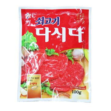 【DM便】牛肉ダシダ100g X3袋(DM便)■韓国調味料、韓国だし、韓国ダシダ、韓国食品、韓国食材、韓国人気商品、韓国料理には必ず入れる、料理がを美味しく、