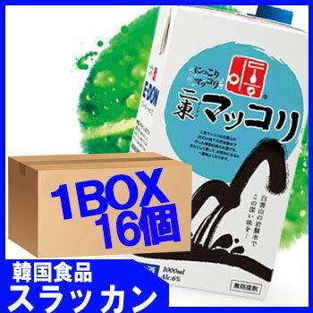 イドンマッコリ−紙パック1L16個 1BOX ★E-DONG/E-dong/韓国食品/お酒/キムチ/チヂミ/に...