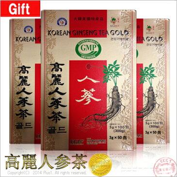 ■【韓国伝統お茶|特産品】高麗人参茶(木箱)3g X 50包