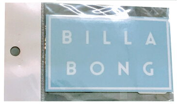 【メール便¥180可能】【BILLABONG/ビラボン】型抜き【ステッカー】【縦約6cm×横約 10cm】ホワイト