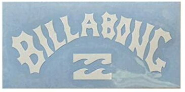 【メール便¥180可能】【BILLABONG/ビラボン】【型抜きステッカー】【縦約3.5cm×横約 8cm】ホワイト