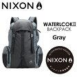 〔あす楽対応〕【送料無料】NIXON,ニクソン,バックパック,リュックサック●WATERLOCK II Gray