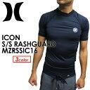 〔あす楽対応〕Hurley,ハーレー,ウェットスーツ,ラッシュガード,紫外線対策,16ss●ICON S/S RASHGUARD MZRSSIC16