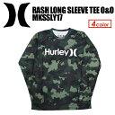 〔あす楽対応〕Hurley,ハーレー,サーフィン,ウェットスーツ,ラッシュガード,紫外線対策,長袖,16su●RASH LONG SLEEVE TEE O&O MKLSLY19