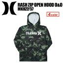 〔あす楽対応〕Hurley,ハーレー,サーフィン,ウェットスーツ,ラッシュガード,紫外線対策,16su●RASH ZIP OPEN HOOD O&O MKHZLY57