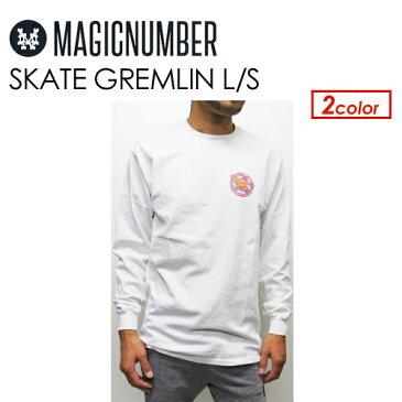 あす楽 Magic Number マジックナンバー Tシャツ ロンT 長袖 Jim Philips●SKATE GREMLIN L/S 17AW-1010