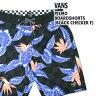 VANS/バンズ メンズ サーフパンツ/ボードショーツ/サーフトランクス PISMO BOARDSHORTS BLACK CHECK FLORAL サーフィン男性用水着_02P01Oct16