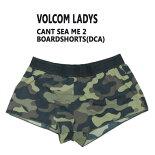 VOLCOM/ボルコム新作レディースサーフパンツCANTSEAME2DCAボードショーツ/サーフトランクス水着サーフィン用WOMENS女性用CAMO柄