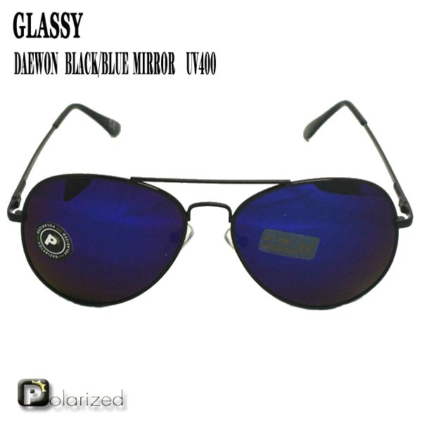 眼鏡・サングラス, サングラス GLASSY SUNHATERS DAEWON BLACKBLUE MIRROR POLARIZED EYEWEAR