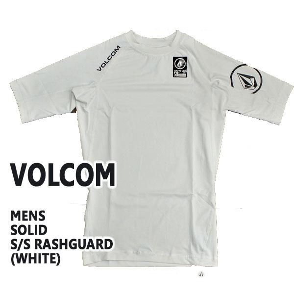 VOLCOM/ボルコムメンズ半袖ラッシュガードSOLIDS/SWHITEUPF50+男性用水着UVカット0111600