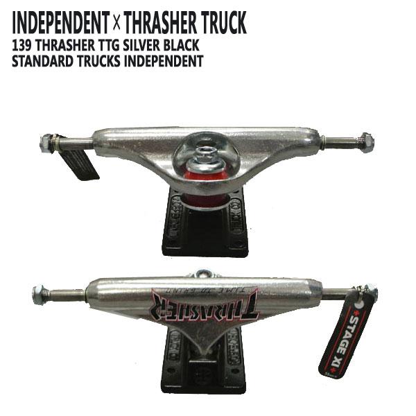 パーツ, トラック INDEPENDENT139 STAGE11 THRASHER TTG SILVER BLACK STANDARD TRUCKS INDY SK8