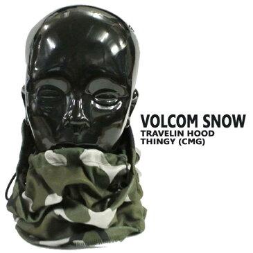 VOLCOM/ボルコム TRAVELIN HOOD THINGY CMG フード付き ネックウォーマー メンズ スノーボード用 目だし帽 ニット帽 帽子 ビーニー VOLCOM SNOW [返品、交換及びキャンセル不可]