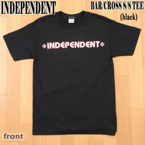 トップス, Tシャツ・カットソー INDEPENDENT BARCROSS SS TEE BLACK T 02P01Oct16