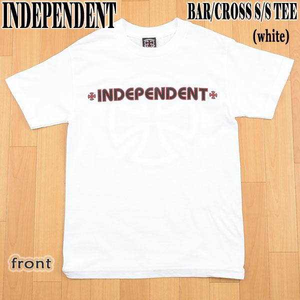 トップス, Tシャツ・カットソー INDEPENDENT BARCROSS SS TEE WHITE T 02P01Oct16