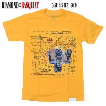 DIAMOND/ダイヤモンド CAST S/S TEE GOLD BASQUIATコラボ メンズ 半袖Tシャツ 男性用 T-shirts