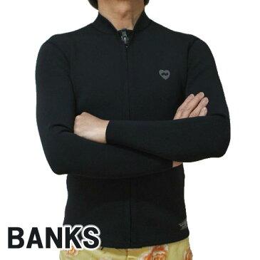 BANKS/バンクス JARED MELL FRONT ZIP JACKET BLACK 長袖タッパー ウェットスーツ [返品、交換及びキャンセル不可]