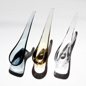 sugaharaの手づくりガラススガハラガラスのガラスのスプーン spoon
