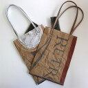 VIRON社の小麦粉袋を使った買物袋MAKOOリユースショッピングバッグVIRON プチ2 ゴールド&シルバー