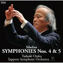 CD/シベリウス:交響曲第4番・第5番 (ハイブリッドCD)/尾高忠明 札幌交響