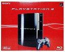 【中古】PS3ハード プレイステーション3本体 クリアブラック(HDD 40GB)